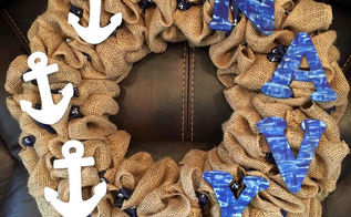 army burlap wreath