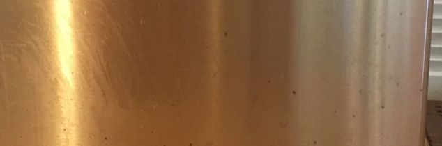 q how can brown spots on stainless steel be cleaned