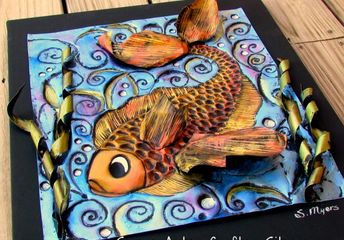 create art with disposable aluminum pans
