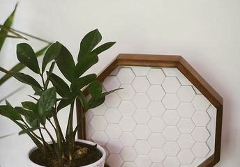 honeycomb tile tray remodel