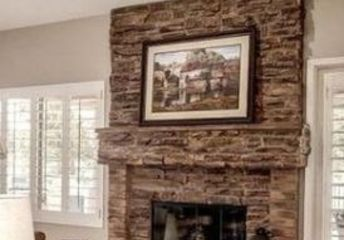 q how to make over a huge fireplace