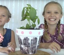 how to make a flower pot photo gift