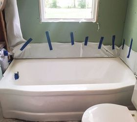 How To Paint A Bathtub Easily Inexpensively Lindsay Eidahl