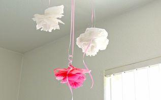 diy room decor tissue roses