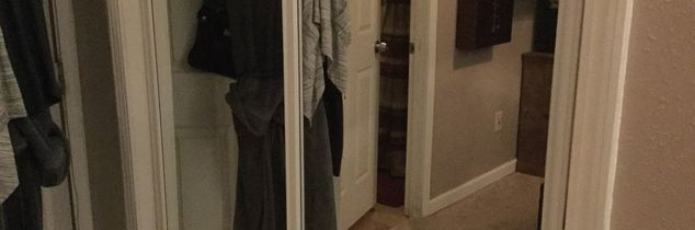 q how to changing sliding closet doors to ones that open from middle out