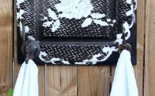 diy a kitchen cabinet door into a towel holder