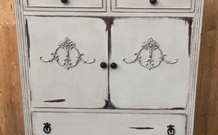 antique linen cabinet makeover