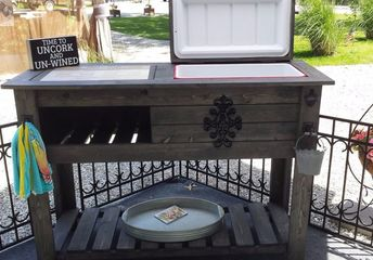 wooden cooler project
