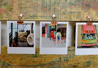 print a map onto an upcycled pallet for a unique photo frame