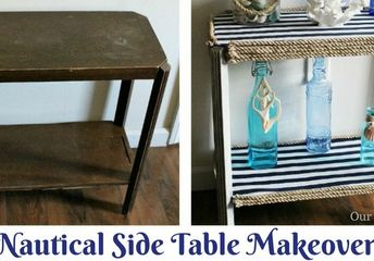 upcycle a roadside find into a nautical end table