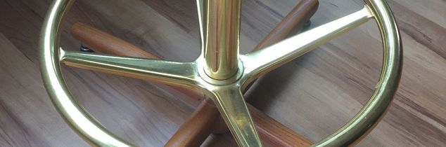q change base of barstools from gold to aged bronze