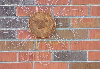 wood and wire flower