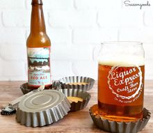 vintage tart tin bottle cap coasters