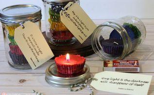 crayon candle gift idea