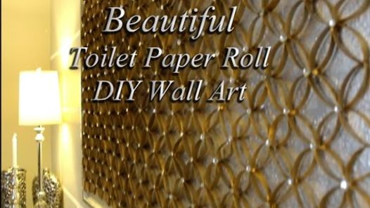 when retired art meets recycled toilet paper roll