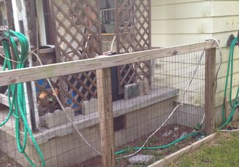 q at a loss as how to use the area between fence and porch