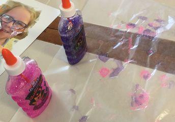 kids creation glitter glue embellishments