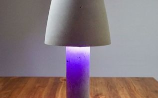 diy concrete lamp shade light