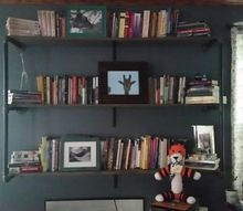 industrial style hanging bookshelves