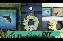 home decor diy summer wreath silhouette wall art