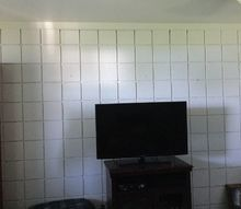 q i rent but want to change or disguise a block wall what can i do