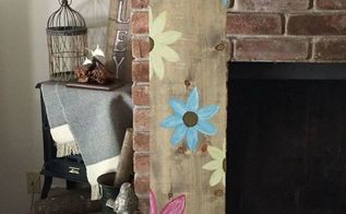 wooden flower sign