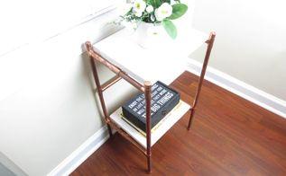 how to diy copper nightstands