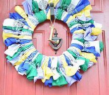 no sew colorful bandana wreath
