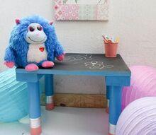make a giant pencil legged table