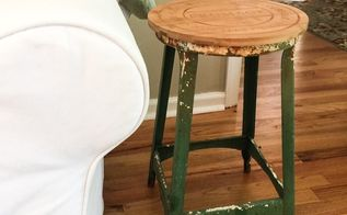 one solution for a rusty metal stool