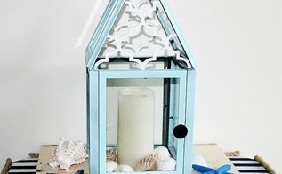 create a beautiful diy lantern from dollar store frames