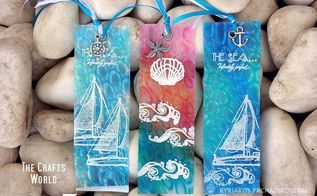 sea inspired bookmarks