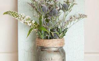 mason jar hanging vase