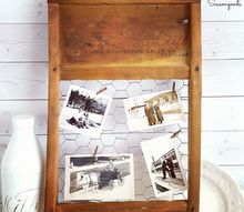 broken washboard photo holder