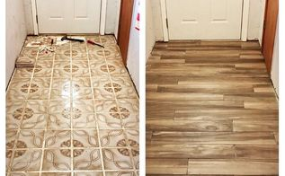 porcelain wood look tile floor