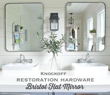 knock off restoration hardware bristol flat mirror