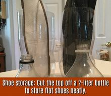 drink soda save the bottles for perfect shoe storage