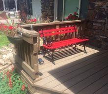 hidden solar lights for a bench