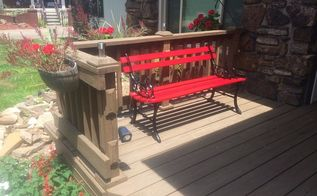 hidden solar lights for a bench
