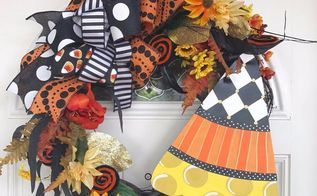 halloween candy corn wreath