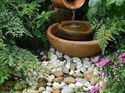 q how can i make a rustic fountain in my garden