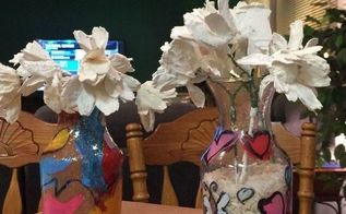 crafts kids creations stained glassvases with porcelain daisies