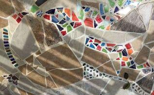 mosaicked outdoor catio cat patio
