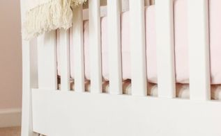 how to make a no sew drop cloth crib skirt