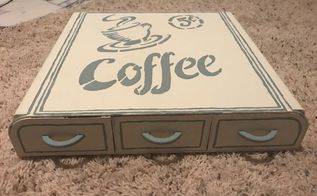 country chic paint coffee pod storage art