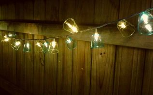 plastic shot glass patio lights