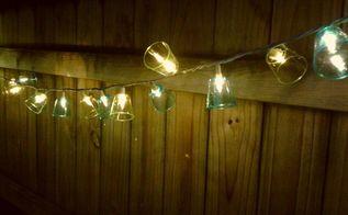 plastic shot glass patio lights