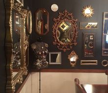 black mirrored dining room