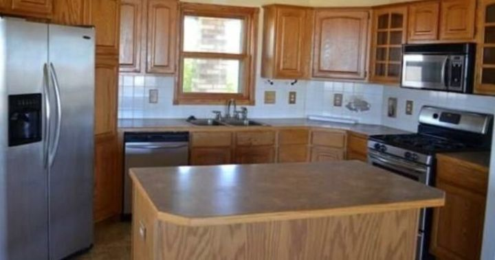 French country farmhouse kitchen makeover on a budget for Country kitchens on a budget
