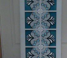 kitchen cabinet door into textured wall art